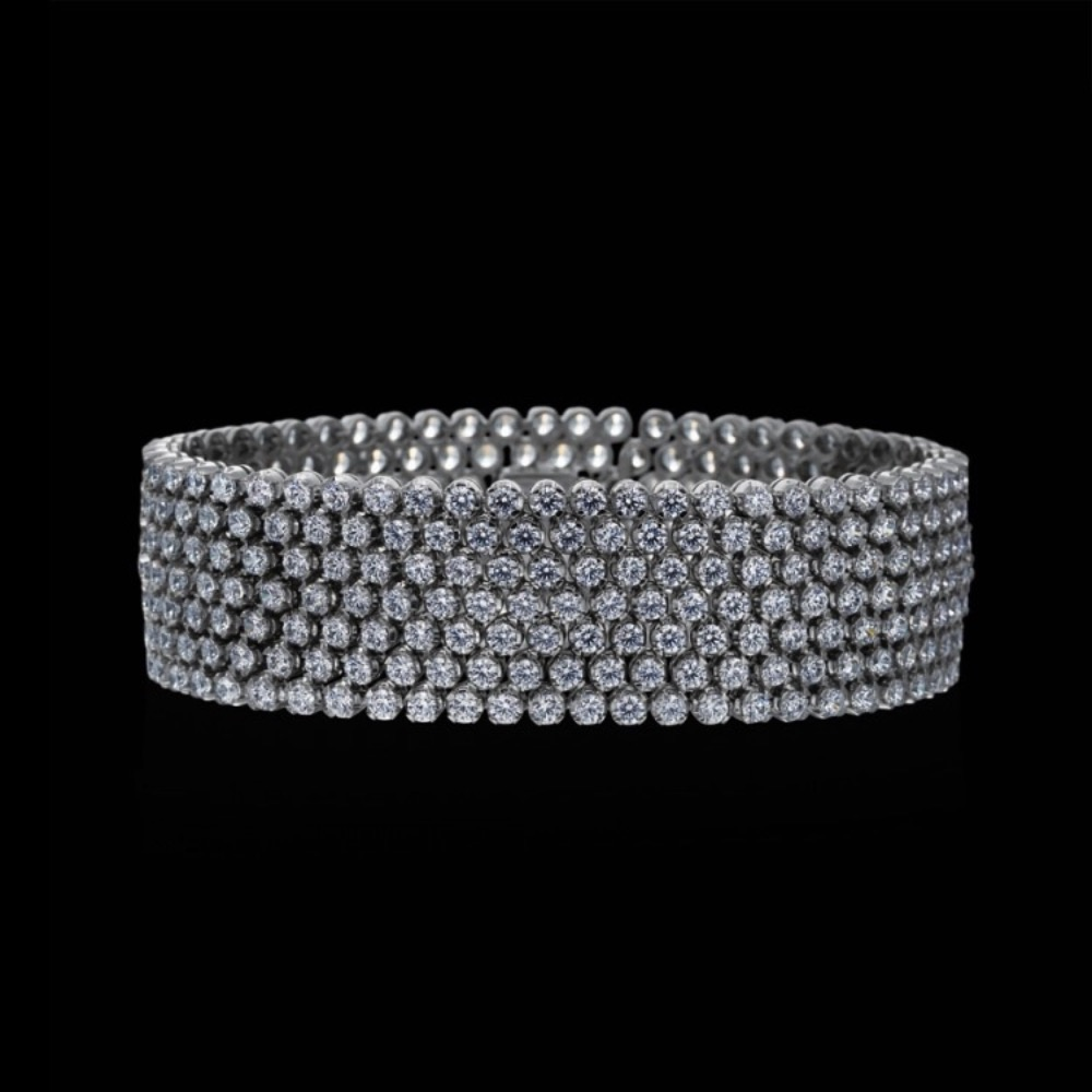 Diamond 7 Row Bracelet