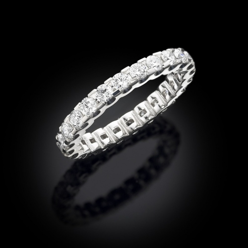 Claw Set Diamond Full Eternity Ring